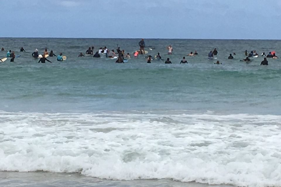 Paddling out at Port Willy